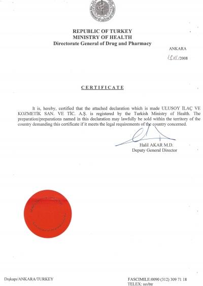 GMP PHARMA CERTICATE