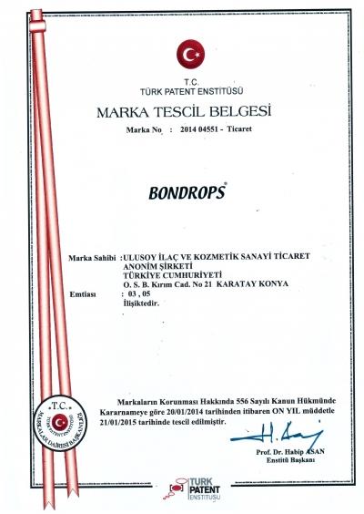 Bondrops Marka Tescil