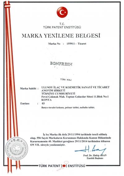 Bonfresh Marka Tescil
