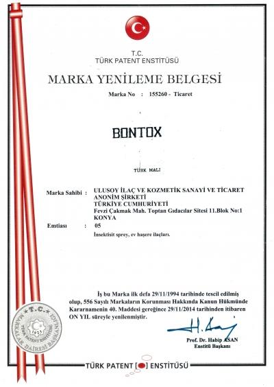 Bontox Marka Tescil