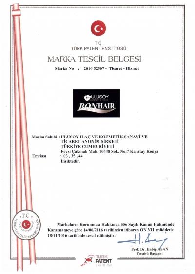 Ulusoy Cosmetics Bonhair Marka Tescil-page-001