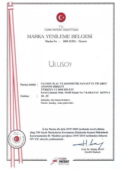 Ulusoy Marka Tescil