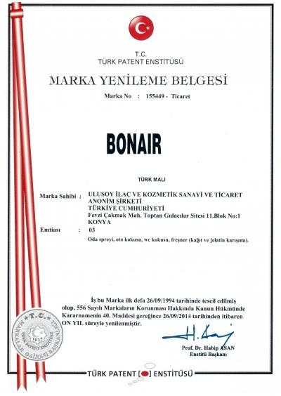 Bonair Marka Tescil