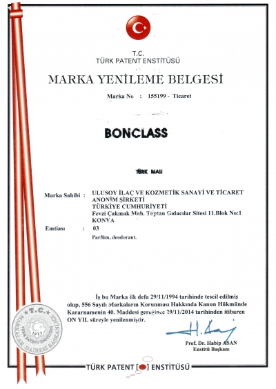 Bonclass Marka Tescil