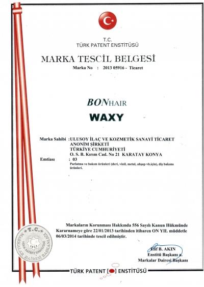 Bonhair Waxy Marka Tescil